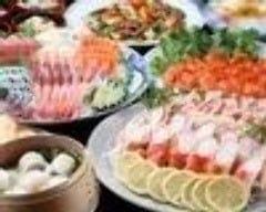 6,000円飲み放題コース 上刺身、カニ、中華料理4品、デザート