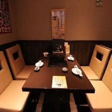 2Fは完全個室(テーブル)4部屋
