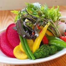 こだわりの野菜と上質な国産の肉を◎