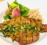 国産豚のワサビ味噌グリル