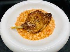 鴨のコンフィと白いんげん豆