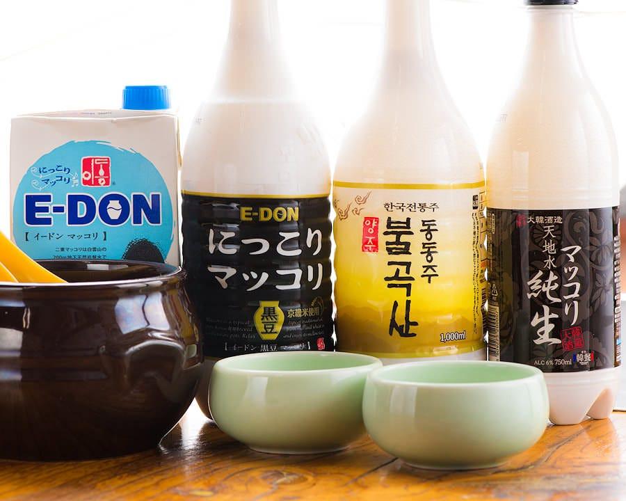 韓国焼酎・マッコリが種類豊富☆ 料理のお供にぜひお試しください!
