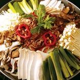 きのこ鍋(2~3人前)3,500円(プルコギ、春雨、椎茸、しめじ、えのき、エリンギ、ネギ入り)