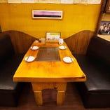 焼肉のできるソファー席は4名様でのご利用が可能です。