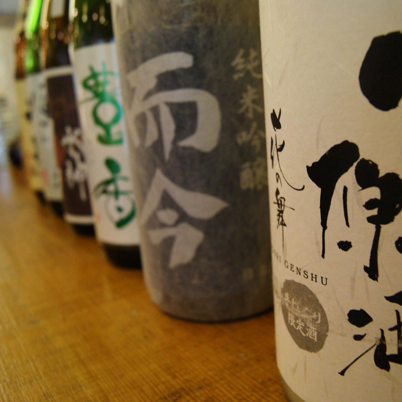 魚介に合う日本酒を全40種以上ご用意