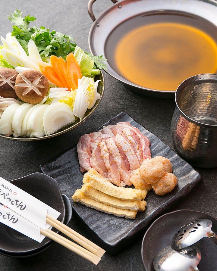 店長イチオシの鍋コースは、出汁、味噌、から選べます