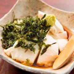 大人気自家製もち豆腐
