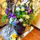 花が好きな母が頼む花屋さんに素敵な花を生けてもらっています☆