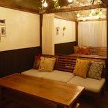 【~20名様まで】南国リゾート気分を味わえるソファ席の半個室