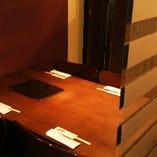 個室感のある半個室テーブル席(2~4名様)