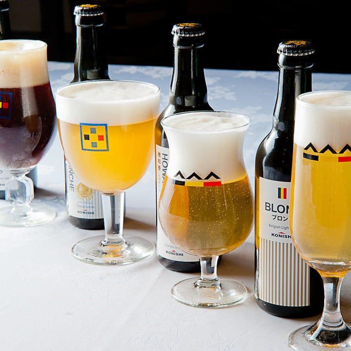 KONISHIビール4種も楽しめる飲み放題付プランをご用意!