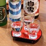 当店では、「白雪」を中心に様々な味わいの日本酒をご堪能いただけます
