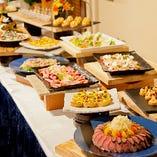 お料理はビュッフェスタイル 予算に応じたシェフこだわりの美食と長寿蔵自慢の美酒♪