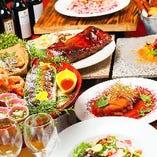 【乾杯限定の吟醸ひやしぼり付!】高知県名物皿鉢料理など大満足の全7品『パーティープランB』飲み放題付