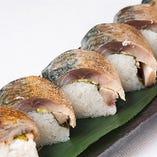 鯖の炙り寿司