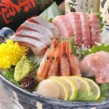 季節を彩る鮮魚が自慢!!全国各地の今が旨い旬魚の刺盛り