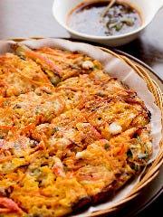 【韓国料理】海鮮ネギチヂミ