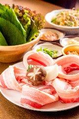 【韓国料理】サムギョプサル(五段バラ)