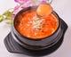 様々なお野菜と一緒にじっくり煮込んだ純豆腐チゲ