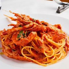 手長海老のトマトクリームスパゲッティ