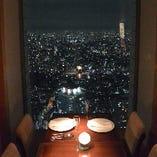 夜景の見える個室