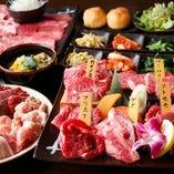 【コース】 人気は山形牛5種盛りを含む食べ放題コース!