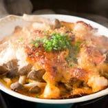 ズワイ蟹と貝柱のうにソース焼