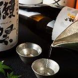 日本酒をより美味しくするためにグラスやおちょこにもこだわっております