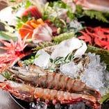 旬の鮮魚を豊富にご準備致しております。