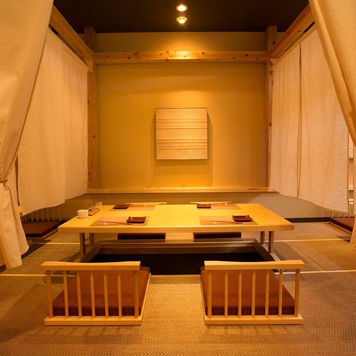 雰囲気抜群の寛ぎ個室空間 団体様の宴会は最大60名様可能