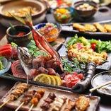 【2時間飲み放題付】自慢の鶏料理+厳選鮮魚お造り!当店の総力を結集『ぜいたくコース』<全8品>