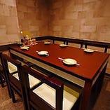 【4~6名様/テーブル半個室】隠れ家気分で楽しめる おしゃれな空間