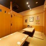 《完全個室》宴会や親族同士のお集まりに最適(6〜12名様×1部屋)