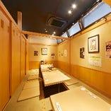 大小完全個室をご用意。どのお席もくつろげる掘りごたつ席を完備