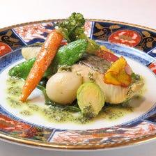【ディナー&ランチ】Komorebiプリフィクスコース B (前菜2品+メイン料理1品+デザート)
