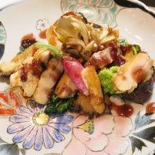 【ディナー&ランチ】Komorebiプリフィクスコース C (前菜1品+メイン料理2品+デザート)