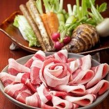 丹波おうみや猪肉の牡丹鍋コース