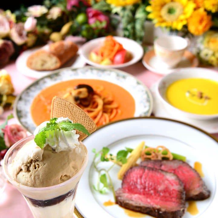 <ランチ>【ぐるなび限定 女子会/昼宴会】肉料理やデザートなど全7品!女子会ランチコース♪