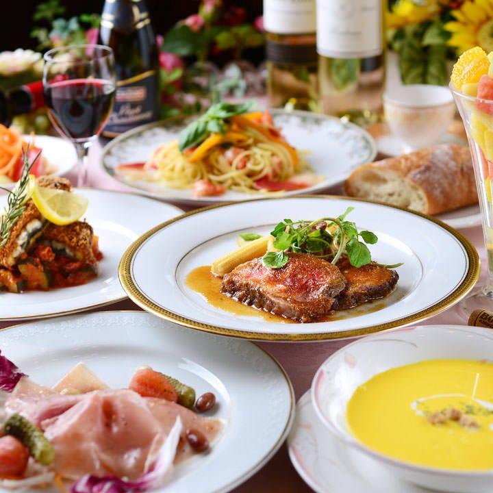 <ランチ>【ぐるなび限定 贅沢ランチ/女子会/昼宴会 】魚も肉も全8品!昼から欲張りランチコース