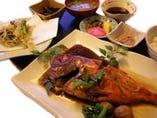 地金目鯛煮付定食
