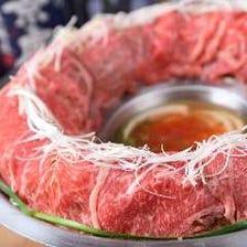 北海道産黒毛和牛&栗豚の肉炊き宴会