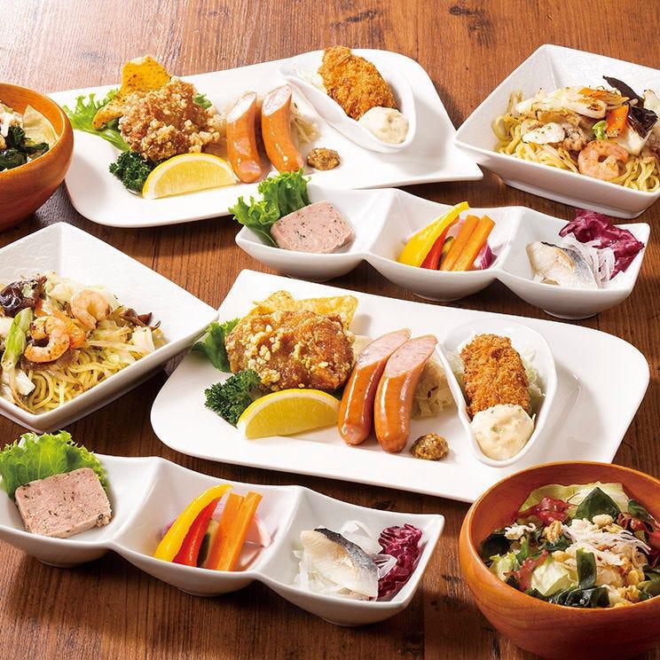 <料理はすべて個人盛り!>『新しい生活様式』Cコース120分飲み放題付4000円(+税)