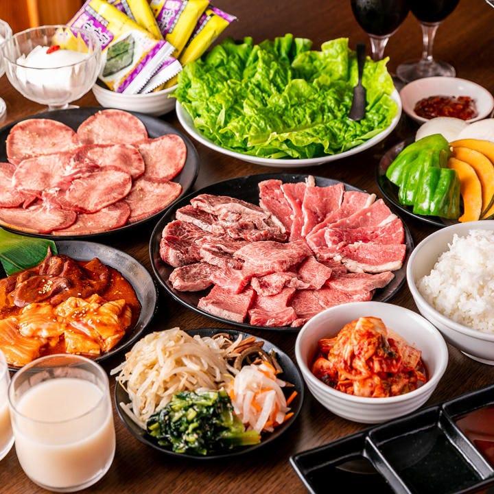 【お料理のみ】思う存分お肉を味わえる「お肉ガッツリコース」(全13品)宴会・食事会