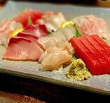 三陸の新鮮な魚介類