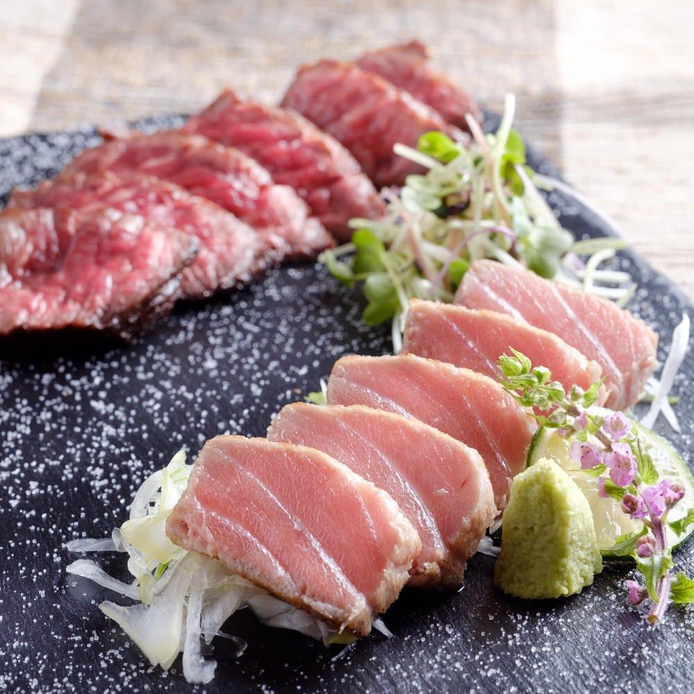マグロと牛肉のコラボレーション!