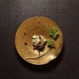 海老とアボカドの蟹みそタルタル