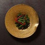 空芯菜炒と青菜の炒め物