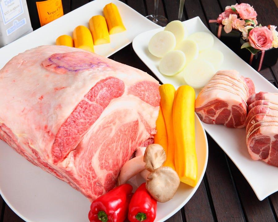 【2時間飲み放題付】※2名~※ お肉やお野菜・逸品料理を楽しめるカジュアルコース