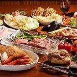 【プレミアム飲み放題付】特選牛肉3種と海鮮!選べる鉄板メニューを多彩にご用意『贅沢コース』全11品