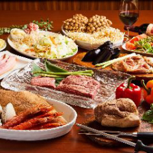 【プレミアム飲み放題付】特選牛肉3種と海鮮!選べる鉄板料理を多彩にご用意『プレミアムコース』全11品